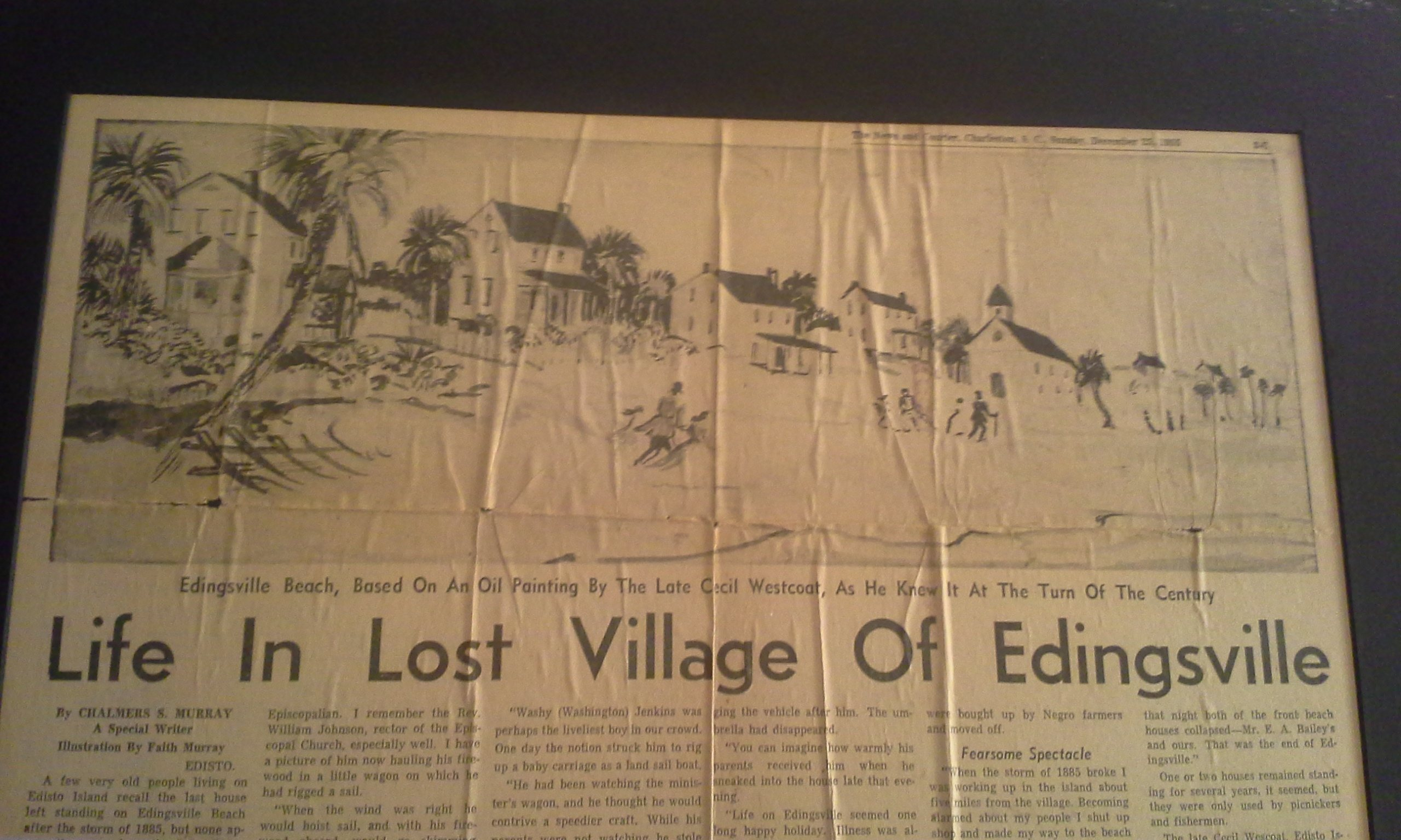 Life in Lost Village of Edingsville Beach